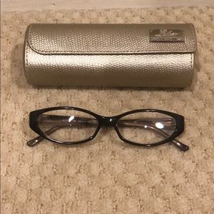 Judith Leiber Frames Reading Glasses and Case